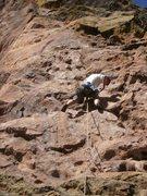 Rock Climbing Photo: @ the first bolt, the first crux.