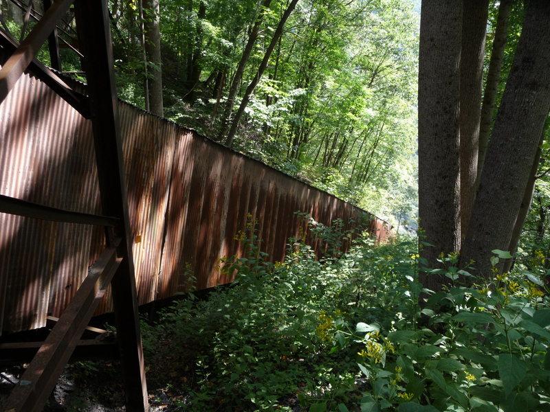 Rock Climbing Photo: Old Coal Conveyor.  Follow the dirt road past the ...