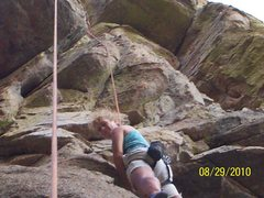 Rock Climbing Photo: midway up on TR