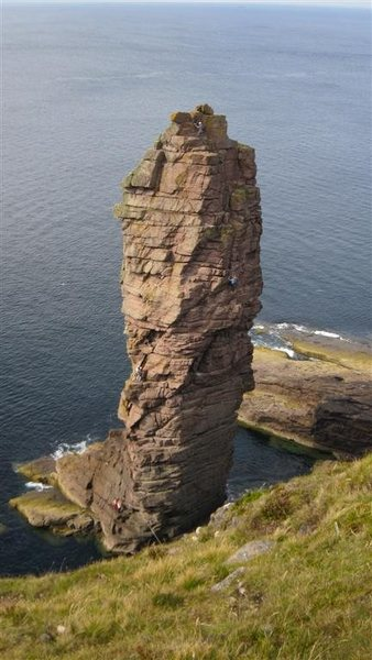 Old man of Stoer looking down from the landside