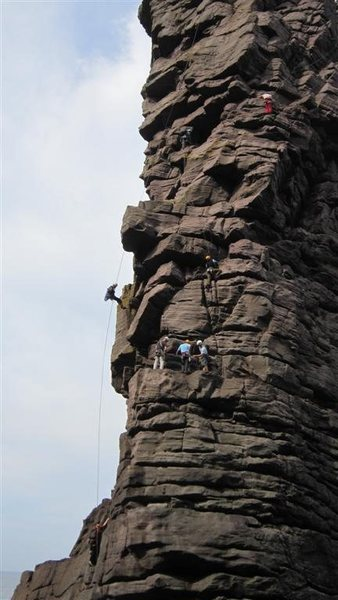 Rock Climbing Photo: Busy day on the Old man of Stoer