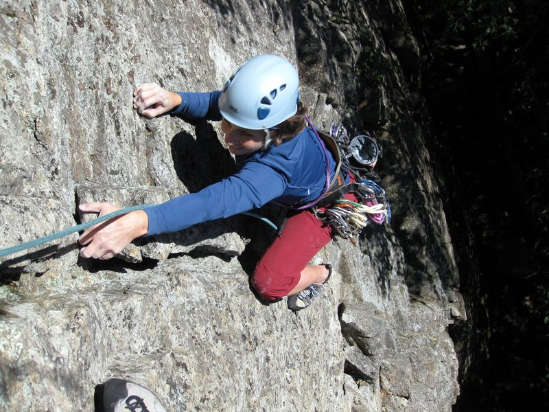 Diane topping out above the horn.