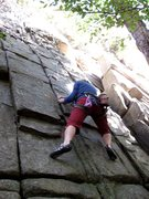 Rock Climbing Photo: Diane at the crux