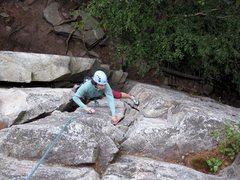 Rock Climbing Photo: Diane having fun