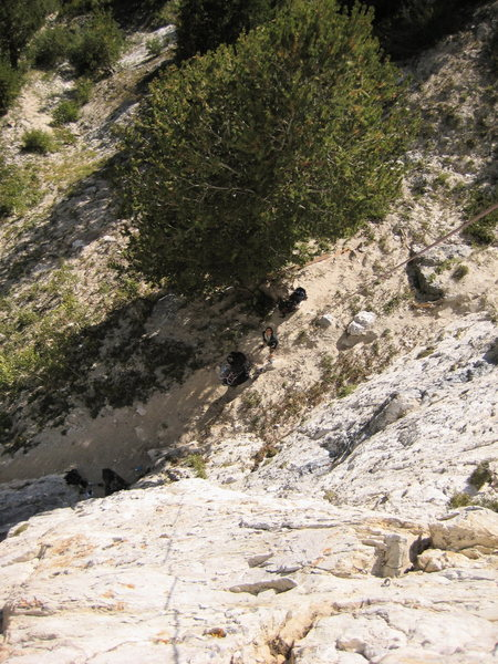 Rock Climbing Photo: From the top of Hell Fire.  Bad photo
