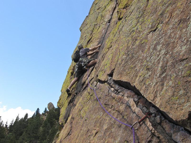 Rock Climbing Photo: Brett on Rewritten.