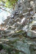 Rock Climbing Photo: Kyle Silverman leading the FA of MJ08