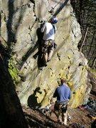 Rock Climbing Photo: Ujahn Davisson (FA) starting Sheep Fuckers Delight...