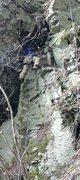 Rock Climbing Photo: Bill Coe leading Dulcinea  (in remembrance of Man ...