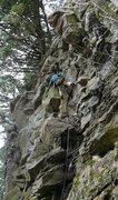 Rock Climbing Photo: Bill Coe leading the FA of the Trembling (Kenny Al...