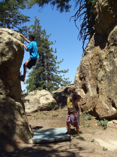 Rock Climbing Photo: Mitchell Boring on Blemish of the Soul V0, Picnic ...