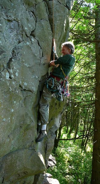Jim Opdycke following Fa of Lizard Locks<br> (Photo Ujahn Davisson)
