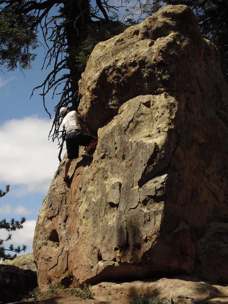 Rock Climbing Photo: Davi Rivas on Wheelchair, Picnic Area, Pine Mtn.