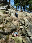 Rock Climbing Photo: Bill Coe leading Fa of Tribal Therapy Kyle Silverm...