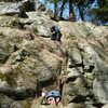 Bill Coe leading Fa of Tribal Therapy<br> Kyle Silverman Belaying<br> (Jim Opdycke picture)