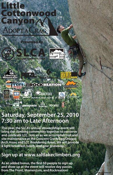 Salt Lake Climbers Alliance Little Cottonwood Canyon Adopt-A-Crag_Sept. 25, 2010