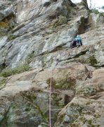 Rock Climbing Photo: Bill Coe on FA of Dwarf Toss