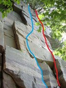 Rock Climbing Photo: Blue, A Mid Western Climb, Red, Short People Need ...