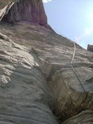 Rock Climbing Photo: Looking up from Second Pitch.
