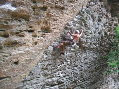 "Rock Climbing Photo: probably not the best route to ""warm up""..."