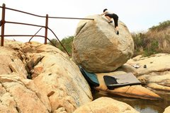 Rock Climbing Photo: The Black Point Boulder