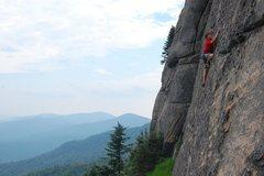 Rock Climbing Photo: Snowy Mountain's, In the Buff, 5.7