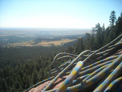 Rock Climbing Photo: first flatiron view of boulder