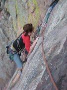 Rock Climbing Photo: cleaning calypso in eldo