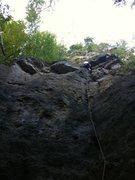 Rock Climbing Photo: Matt leading Goofed On Skunk Weed