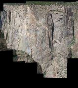 Rock Climbing Photo: North Chasm View Wall from Devils Point. Climbers ...