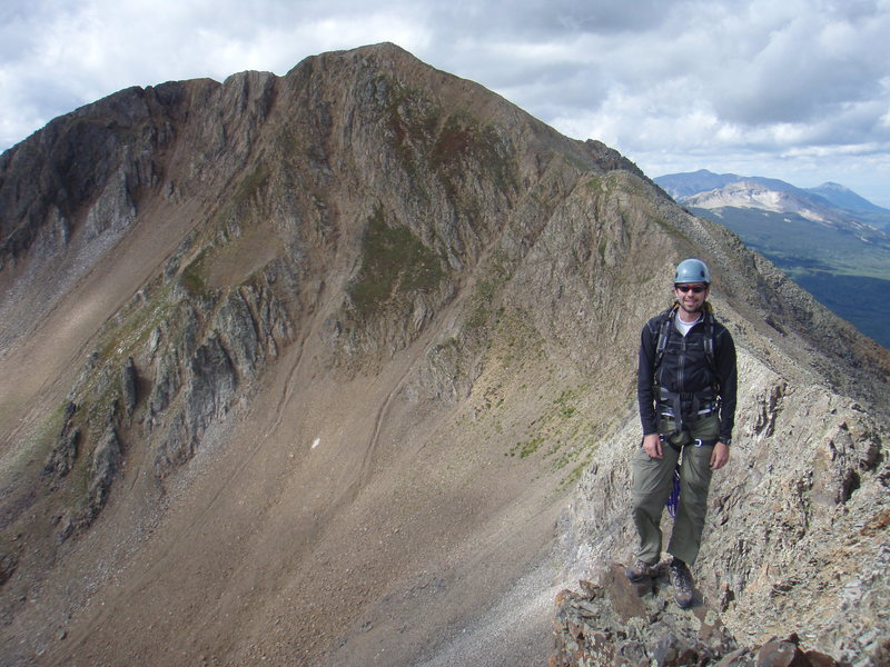 Rock Climbing Photo: On the summit of Purple Peak after a climb of &quo...