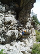 Rock Climbing Photo: Paavo Thabit on the start. It's 8 or 9 moving righ...