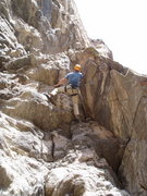 Rock Climbing Photo: Paavo Thabit on the crux. You can face left (easie...
