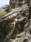 Rock Climbing Photo: Paavo at the first steep moves.