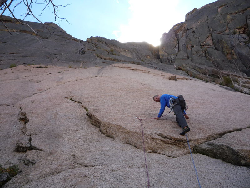 Rock Climbing Photo: Starting the first pitch.