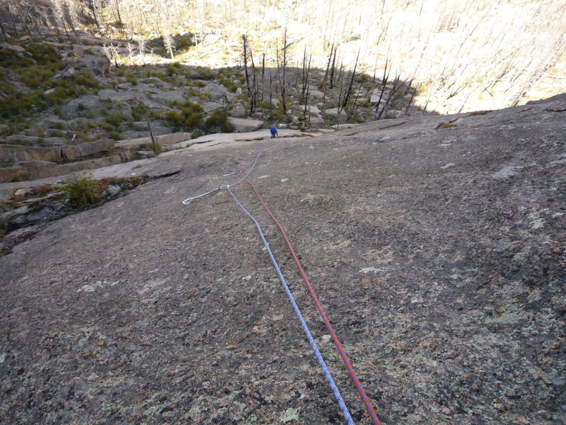 Looking down pitch 2.