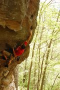 Rock Climbing Photo: Static reach.