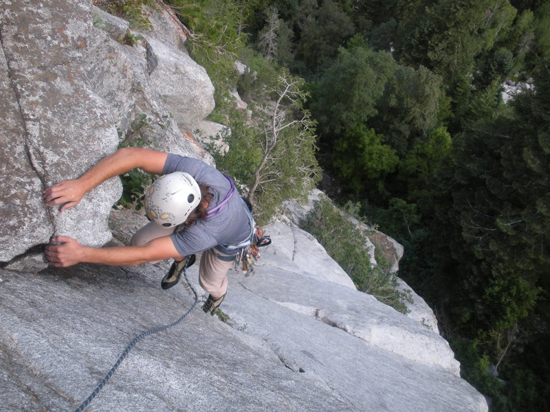 Rock Climbing Photo: Good times on P2.