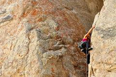 Rock Climbing Photo: Vicky Su onsighting Becky Route Photo: Steve Cox