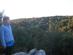 Rock Climbing Photo: looking out off the Raven Rock Overlook