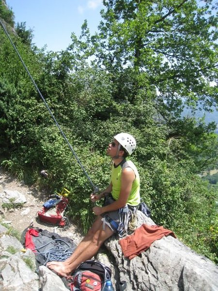 Limestone climbing near Tarascon-sur-Ariege.