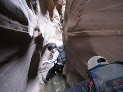 Rock Climbing Photo: UT slot canyon.