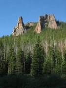 Rock Climbing Photo: Wigwam Tower and Keystone Buttress.