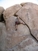 Rock Climbing Photo: enjoying solid shady jams on Broken Glass