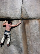 Rock Climbing Photo: transition from 5.9 traverse to 5.10+ finger crack...