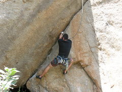 Rock Climbing Photo: starting up Left Long's Crack
