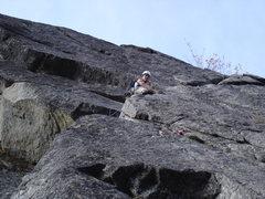 Rock Climbing Photo: on the traverse pitch