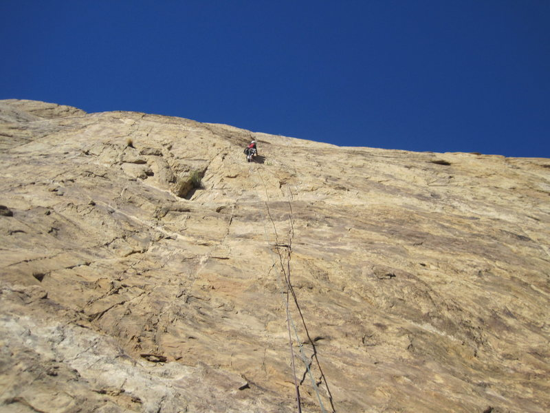 Rock Climbing Photo: Passing the first bolt