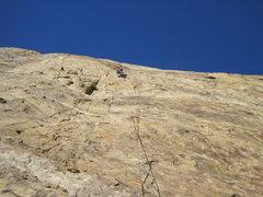 Rock Climbing Photo: Passing the first bolt
