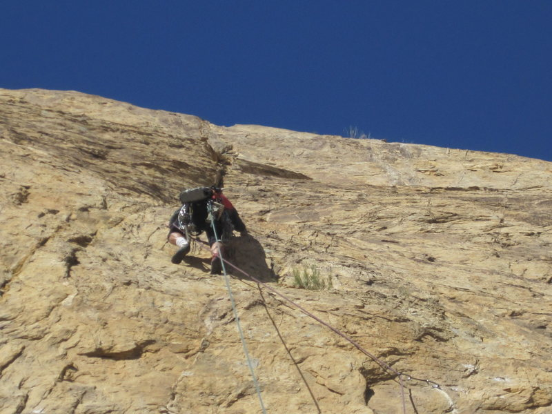 Rock Climbing Photo: Tele photo past the first bolt